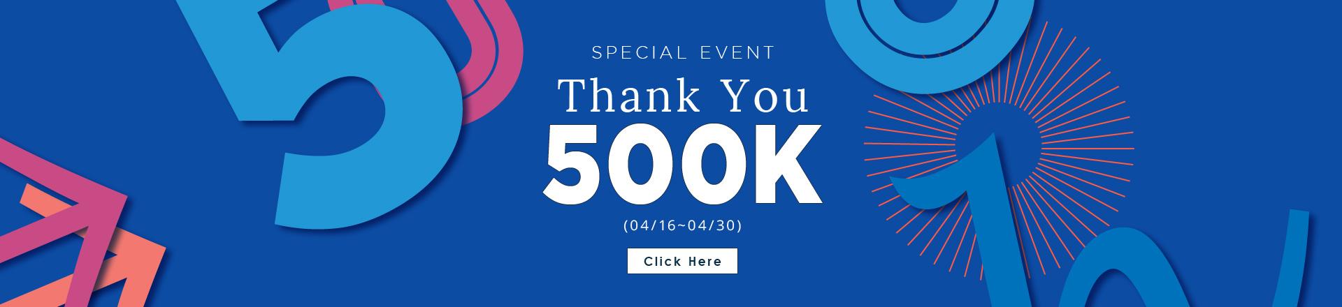 Thank you 500K