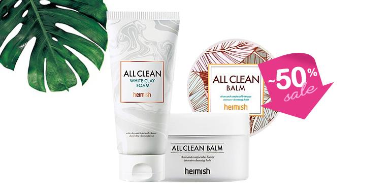 [SET] [heimish] All Clean White Clay Foam + [heimish] All Clean Balm 120ml