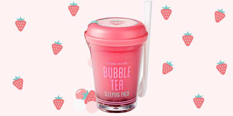 [Etude house]Bubble Tea Sleeping Pack Strawberry 100g
