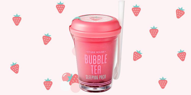 [Etude house]Bubble Tea Sleeping Pack Strawberry 100g