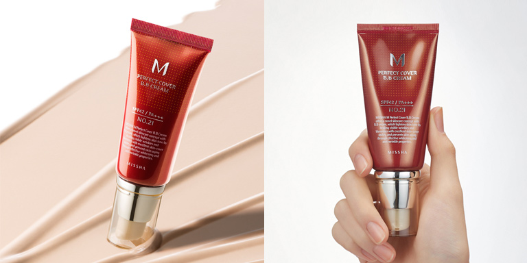 [Missha] M Perfect Covering BB Cream SPF42 PA+++,No.21 Light Beige, 50ml