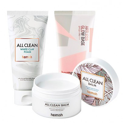[SET] [heimish] All Clean White Clay Foam + All Clean Balm 120ml + Artless Glow Base SPF 50+ PA+++ 40ml