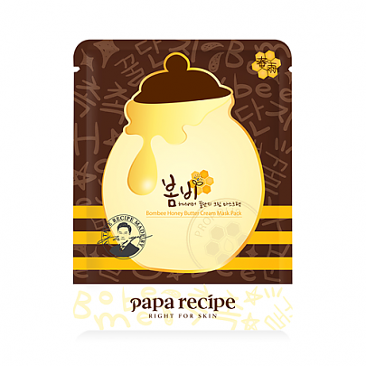 [Paparecipe] Bombee Honey Butter Cream Mask Pack