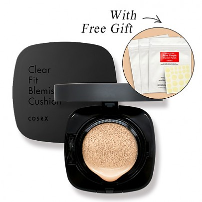 [COSRX] Clear Fit Blemish Cushion #21 Light Beige (Open For Pre-Order Now)+ Free Gift Pimple Patch 3ea