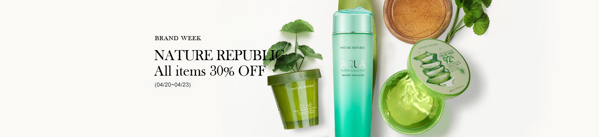 Nature Republic 30% Off