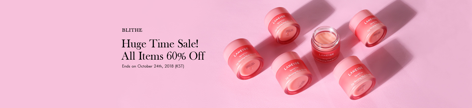 Laneige All Items 60% Off