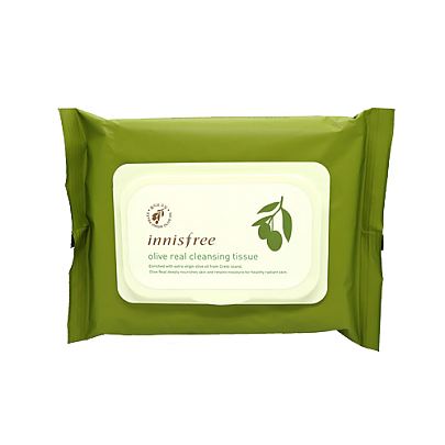 [Innisfree] Olive Real Cleansing Tissue 30 Sheets, 150g