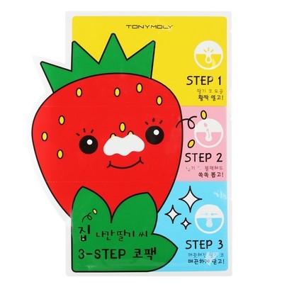 [Tonymoly] Strawberry 3 step nose pack