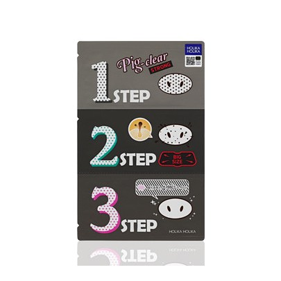 [Holika Holika] Pig Nose clear black head 3 Step kit Strong
