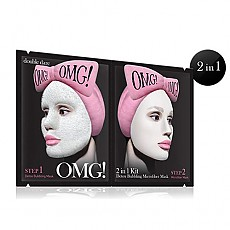 [double dare] OMG! 2IN1 KIT Detox Bubbling Microfiber Mask