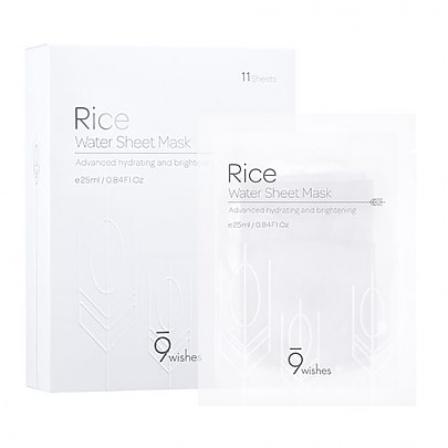 [9wishes] Rice Water Sheet Mask (11sheet)