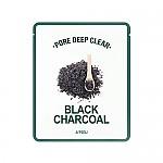 [A'PIEU] Pore Deep Clear Black Charcoal Mask