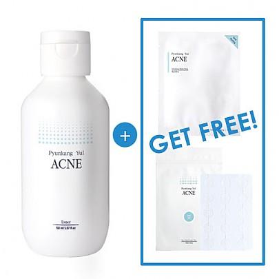 [Pyunkang Yul] Acne Toner 150ml + ACNE Spot Patch Super Thin + Acne Dressing Mask Pack
