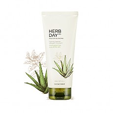 [THE FACE SHOP] Herbday 365 cleansing foam Aloe&Green Tea 170ml